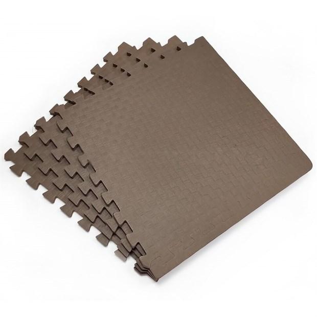 Коврик-пазл eco cover Мягкий пол Спорт 500x500x14 50МП/4526 коричневый - фото 9907