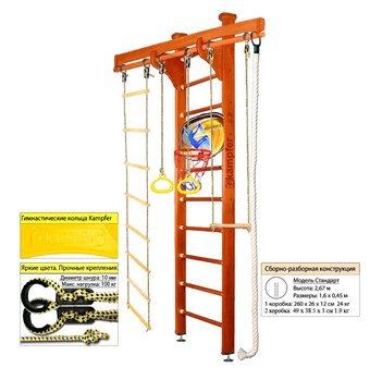 "Kampfer ""Wooden Ladder Ceiling Basketball Shield"" спортивно-игровой комплекс"